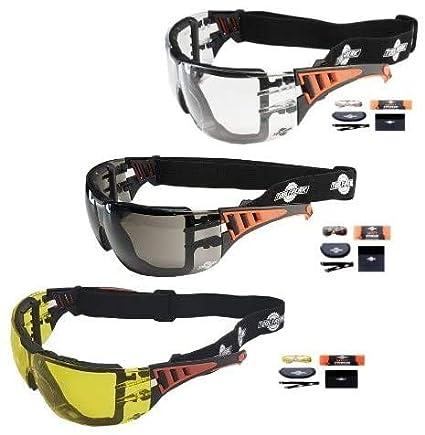 ToolFreak Rip Out Gafas de Seguridad para Trabajo y Deporte Pack Mega Bundle con Cristales Tintados Amarillos, Claros y Ahumados, Acolchado de Espuma, Protección contra Impactos y Rayos UV