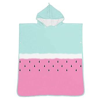 Poncho de toalla de baño con capucha para niños Frutas y patrón de flores Unisex Niños Bebé ...