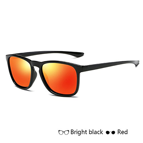 l'homme miroir Rayons carré Red hommes Retour soleil Lunettes lunettes de pour Sunglasses TL X Polarisé Vintage Lunettes soleil de q4vxY0aw