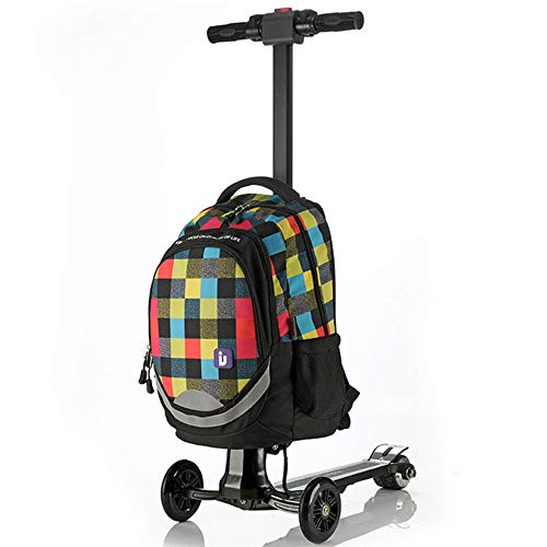 Electric Scooter Business Trolley Luggage Scooter Electric Aircraft Wheel Boarding Bag Student Bag Oxford Cloth Suitcase…