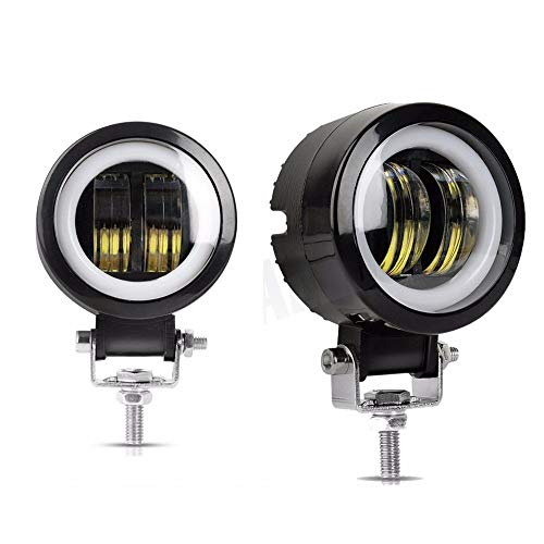 (2PCS 3 inch 40W Fog light white 6000K 10-80V DC 8000LM waterproof round LED angel eye light strip off-road vehicle marine work light motorcycle light warranty 3 years)
