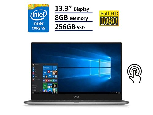 Dell XPS 13 9360 Laptop – 13.3″ Anti-Glare InfinityEdge TouchScreen FHD (1920×1080), Intel Core i5-7200U, 256GB NVME PCIe M.2 SSD, 8GB RAM, Windows 10 – Silver (Certified Refurbished)