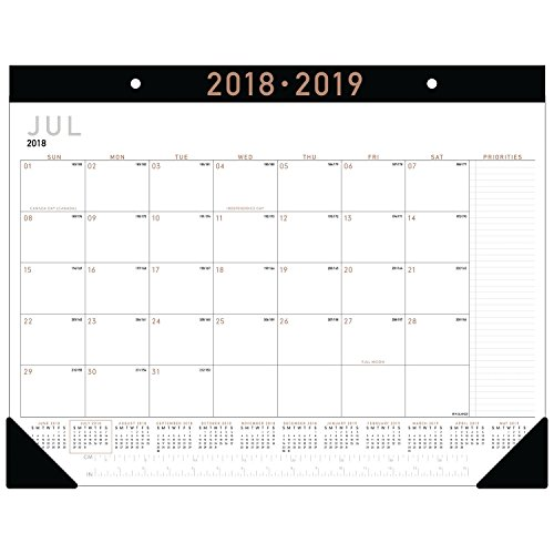 9 Academic Year Desk Pad Calendar, Standard, 22 x 17, Contemporary (AY24X00) (12 Month Desk Pad Calendar)