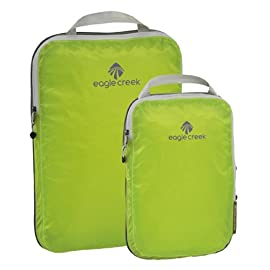 Eagle Creek Pack-It Specter Compression Packing Cubes - Water-Resistant Luggage Organizers 4 Compression zipper for even more space savings Great for t-shirts, pants, and shorts Ultra lightweight silnylon ripstop allows for visibility of contents