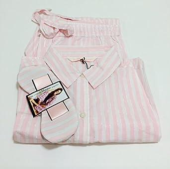 ac68b298bd Victoria s Secret Women s The Dreamer Flannel Pajama set Small White  Pink  Stripe