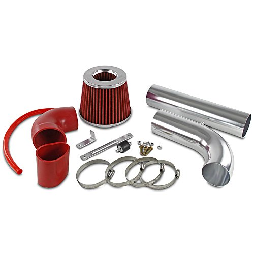 Spec-D Tuning AFC-S1097L4RD-AY Sonoma S10 Pickup Hombre 2.2L L4 Red Cold Air Intake Fan Filter Kit