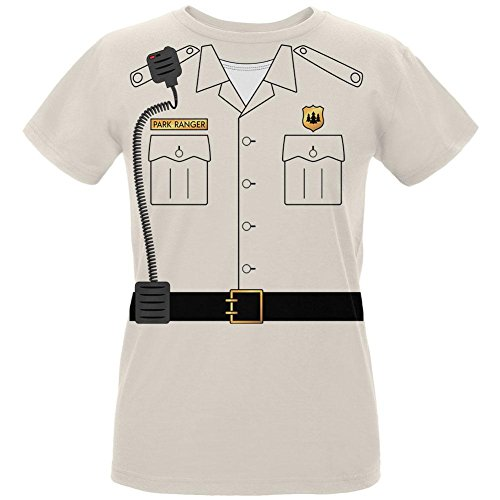 Old Glory Halloween Forest Park Ranger Costume Womens T Shirt Natural SM White ()
