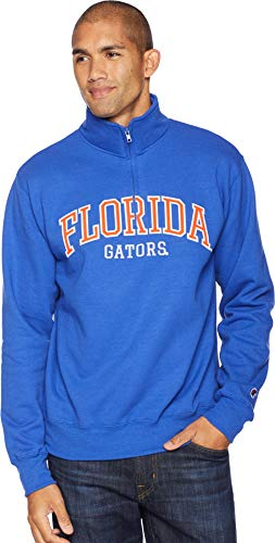 Champion College Men's Florida Gators Powerblend¿ 1/4 Zip Royal X-Large