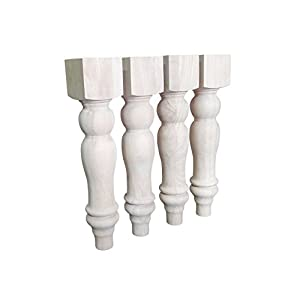 """16"""" Unfinished Farmhouse Bench Legs or Coffee Table Legs, Set of 4"""