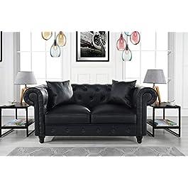 Divano Roma Furniture Classic Living Room Bonded L...