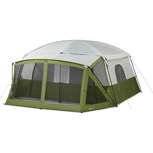 Ozark Trail 12-Person Cabin Tent with Screen Porch (Green)