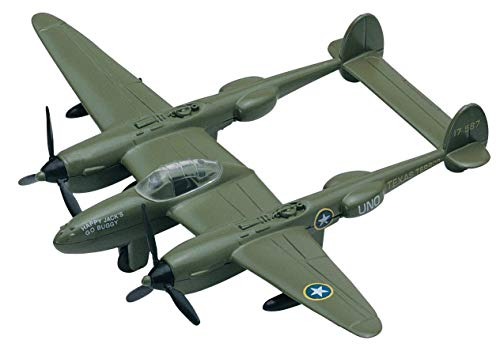 Sky Wings 1:100 Scale Richmond Toys Motormax P-38 Lightning Die-Cast Plane ()
