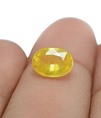 Buy Om Gyatri 9 25 Ratti Yellow Sapphire Pukhraj Stone Original