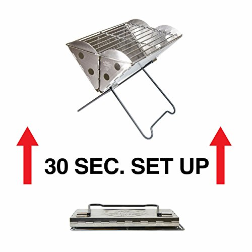 UCO Flatpack Portable Stainless Steel Grill and Fire Pit by Grilliput (Image #5)