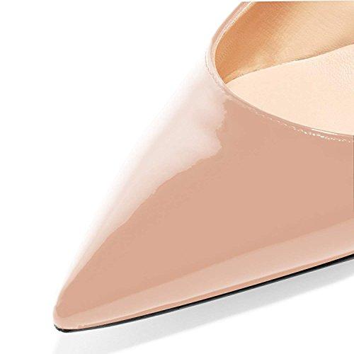 Escarpins Escarpins Talon Chaton Pan Semelle Sangles Nude de Pointu soirée Chaussures Femmes de Bout 65MM Cheville Caitlin Rouge de qXERR