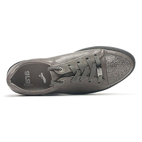 Stringata Toronto Ara 43828 Con Brillantini Sneaker Grigia wtHfxR