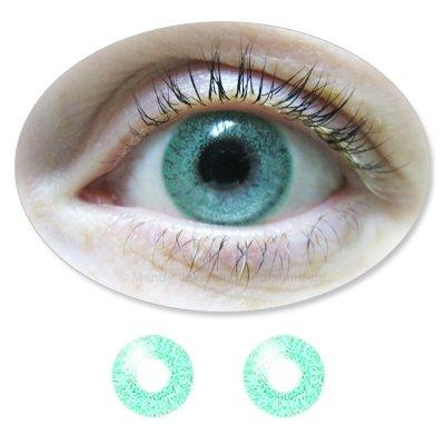 Farbige Kontaktlinsen Monatslinsen Fun ColorMaker JadeGreen /JadeGrüne mit oder ohne Stärken