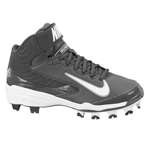 Nike Youth Huarache Strike MD MCS BG High-Top Baseball Cleats Lt Graphite/White US Youth 5Y /UK4.5/EUR37.5 by NIKE