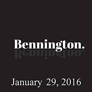 Bennington, January 29, 2016 Radio/TV Program