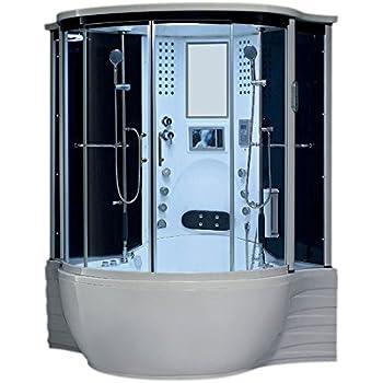 Lifetime Bath 30 Jet Heated Whirlpool Bathtub Rainfall Ceiling Shower  Luxurious Refreshing Sovanna Steam Shower Unit