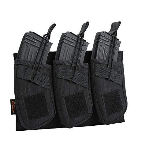 EXCELLENT ELITE SPANKER Tactical Open Top Magazine Single/Double/Triple AK Mag Pouch(Black)