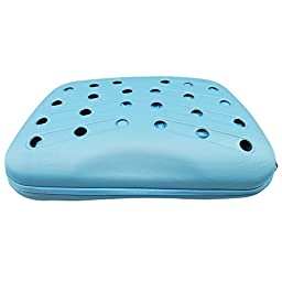 Narrow Shelled Perforated Lightweight Collapsible Military Grade Transportable Designer Pet Carrier, Light Blue, One Size