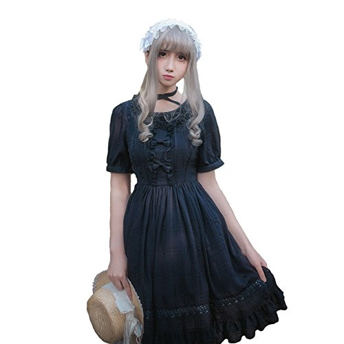Smiling Angel Girls White Sweet Lolita Dress Princess Court Skirts Cosplay Costumes