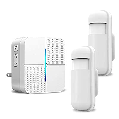 Motion Sensor Alarm Detector - JOYSAE Wireless Security Driveway Chimes Home Security Alert System Infrared Protect Home Store Safety 1-2