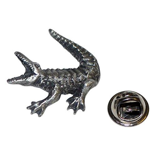 Crocodile Lapel Pin Badge In British Pewter
