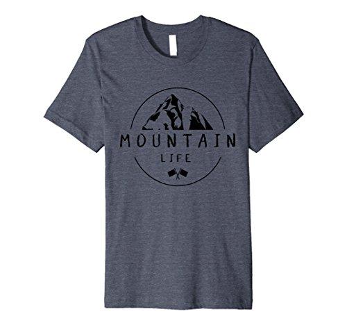 Mens Mountain Life Outdoor T-shirt XL Heather (Mountain Life)