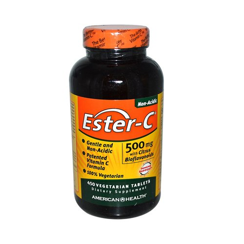 2 Packs of American Health Ester-c With Citrus Bioflavonoids - 500 Mg - 450 Vegetarian Tablets by American Health