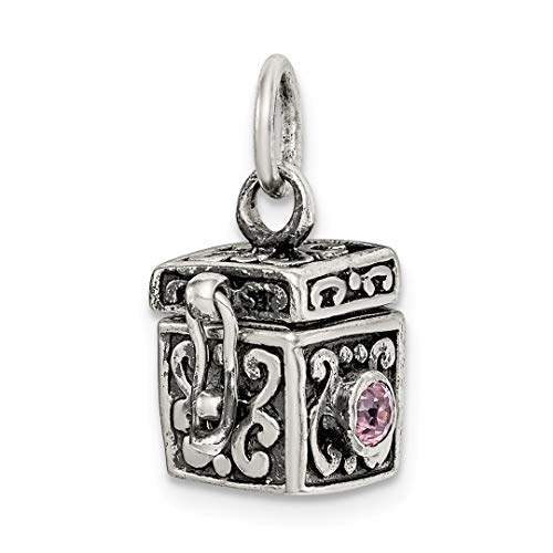 - 925 Sterling Silver Prayer Box Pendant Charm Necklace Religious Book Fine Jewelry Gifts For Women For Her