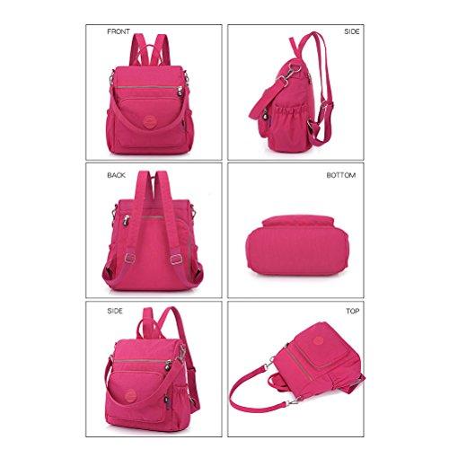 Dayack for Nylon Women YIMOJI Backpack Beige Casual Women Lightweight Waterproof Small Handbags Bags Crossbody Purse Girls School Shoulder Bag Messenger wwS7aX