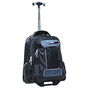 CalPak Satellite 18-inch Rolling Laptop Backpack, Black, One Size