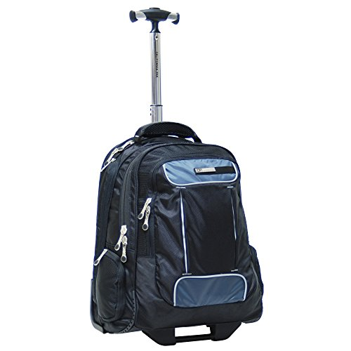 CalPak Satellite 18-inch Rolling Laptop Backpack, Black, One (Calpak Rolling Backpacks)