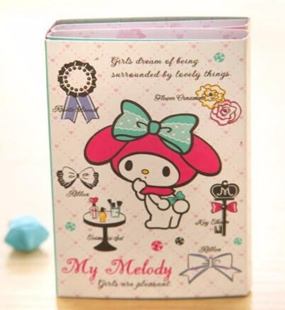 Kawaii My Melody 6 Fold Sticky Notes Memo Pad (White)
