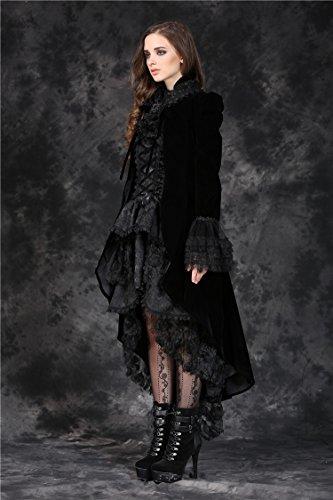 Veste Gothique Jabot Boléro En Noir Avec Darkinlove Noire Ouverte Velours Dentelle Élégante dqOqwCS