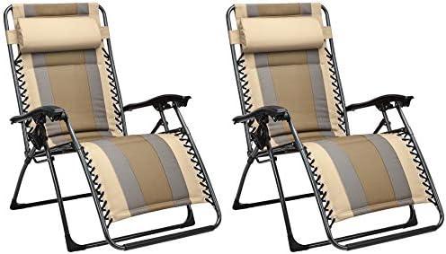 AmazonBasics Padded Zero Gravity Chair Tan product image