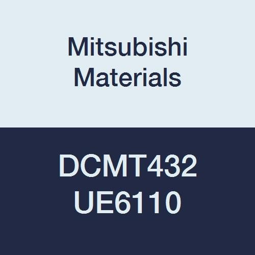 Mitsubishi Materials DCMT432 UE6110 Carbide DC TYPE Positive Turning Insert with Hole, CVD Coated, Rhombic 55°, 0.5