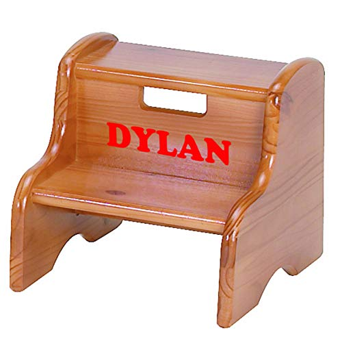 - Little Colorado Personalized Honey Oak Step Stool