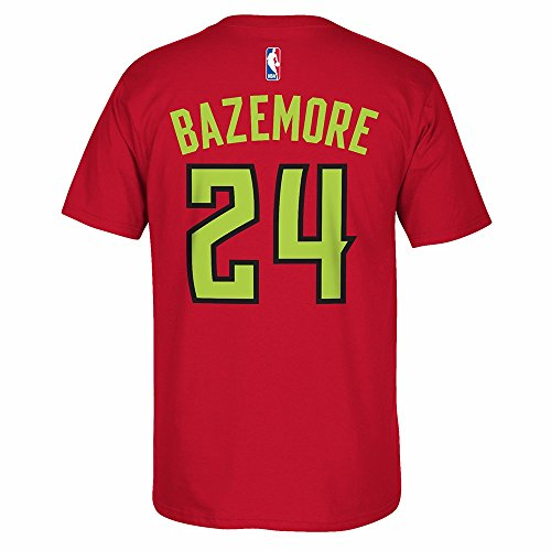 adidas Kent Bazemore Atlanta Hawks NBA Red Name & Number Player Jersey Team Color T-Shirt For Men – DiZiSports Store