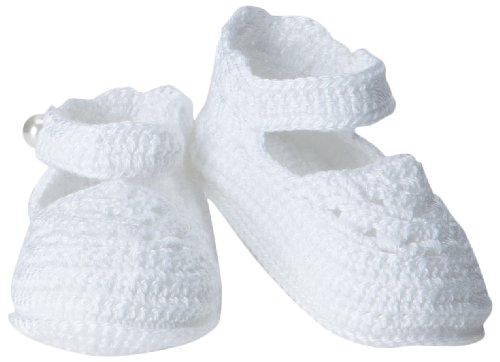 (Jefferies Socks Baby-Girls Infant Mary Jane Bootie, White, Newborn )