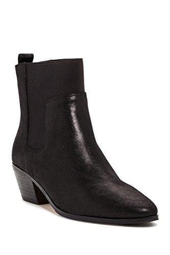 Elie Tahari Positano Zwarte Lederen Booties