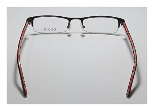 Oasis Begonia Womens/Ladies Rx-able Red Carpet Style Designer Half-rim Eyeglasses/Eyewear (47-18-135, Black)