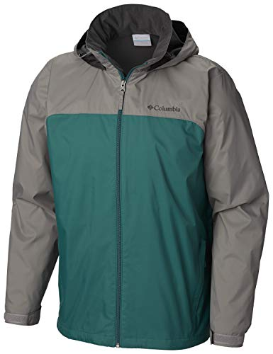 Columbia Men's Glennaker Lake Lined Rain Jacket, pine green/ boulder,M ()