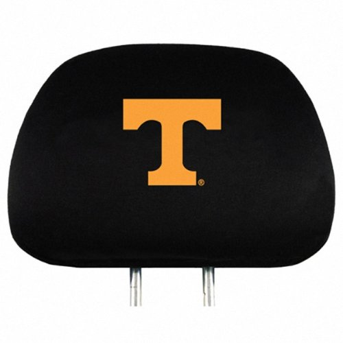 Ncaa Covers Headrest (Tennessee Auto Headrest Covers Set of Two NCAA)
