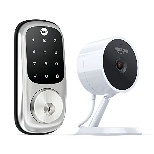Amazon Key Home Kit: Amazon Cloud Cam (Key Edition) indoor security camera and compatible smart lock