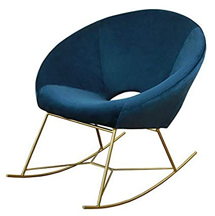 Amazon.com: Hebel Nolan Velvet Rocking Accent Chair | Model ...