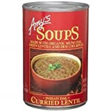 Amy's Organic Indian Dal Curried Lentil Soup, 14.5-Ounce Cans ( Value Bulk Multi-pack)(PACK OF48)