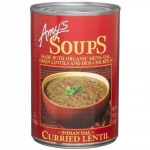 Amy's Organic Indian Dal Curried Lentil Soup, 14.5-Ounce Cans ( Value Bulk Multi-pack)(PACK OF48) by Amy's